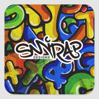 Graffiti Rumble Square Sticker