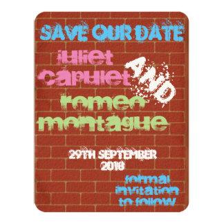 Graffiti Save the Date Card