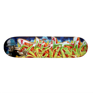 graffiti sk8 skateboard deck
