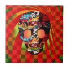 graffiti skull tile
