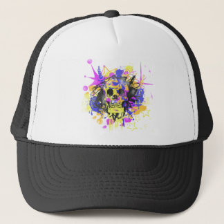 Graffiti Skull Trucker Hat