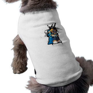 Graffiti Sleeveless Dog Shirt