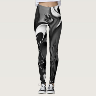 Graffiti Smoky Grey Streetwear Leggings