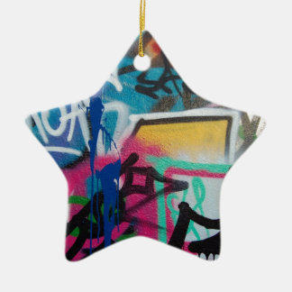 graffiti smudge background ceramic star decoration