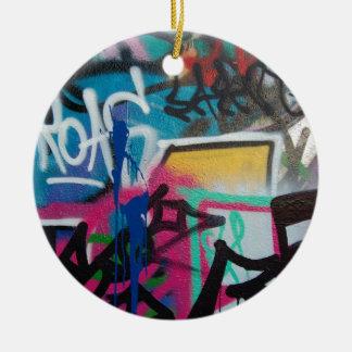 graffiti smudge background christmas ornament