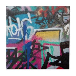 graffiti smudge background small square tile