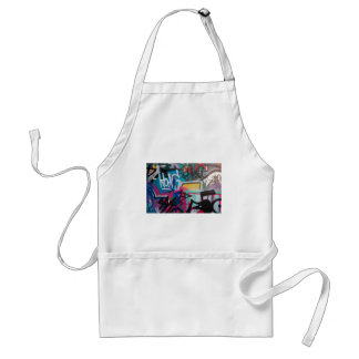 graffiti smudge background standard apron