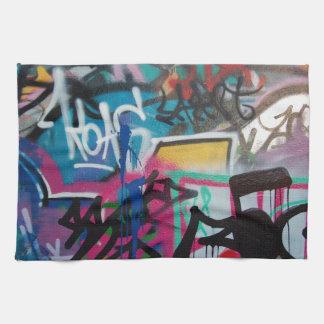 graffiti smudge background tea towel