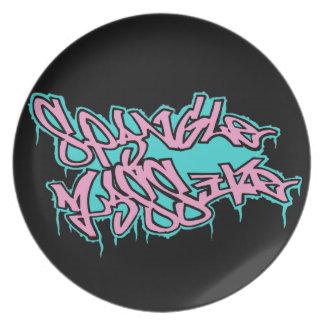 GRAFFITI spangleMASSIVE logo plate