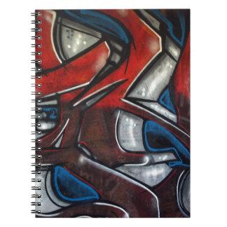 Graffiti Spiral Note Books