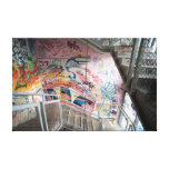 graffiti stairs stretched canvas prints