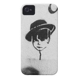 graffiti stencil art, boy in a hat iPhone 4/s case
