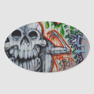 Graffiti Oval Stickers