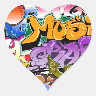 Graffiti Street Art Heart Sticker
