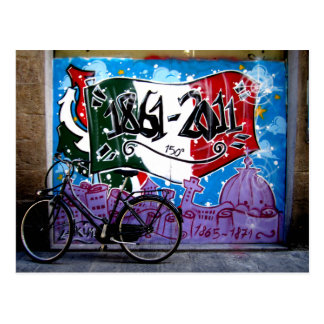 Graffiti street scene in Florence Postcard