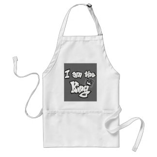 """Graffiti Style """"I am the King"""" with crown Standard Apron"""