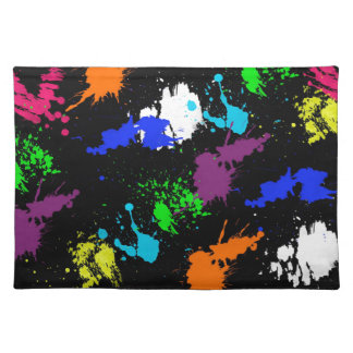 Graffiti Style Paint splash design Placemat