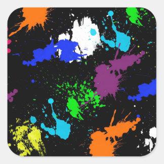 Graffiti Style Paint splash design Square Sticker