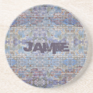 Graffiti Style Personalized Sandstone Coaster