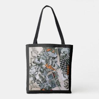 Graffiti style tote bag