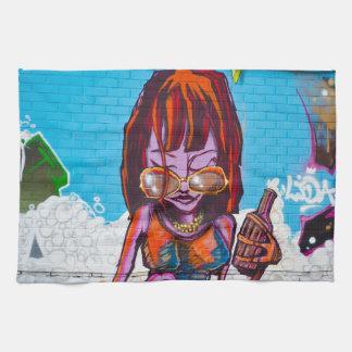 Graffiti Tea Towel