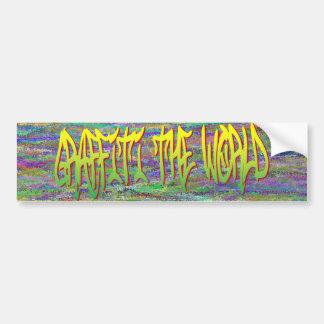 Graffiti The World Bumper Sticker