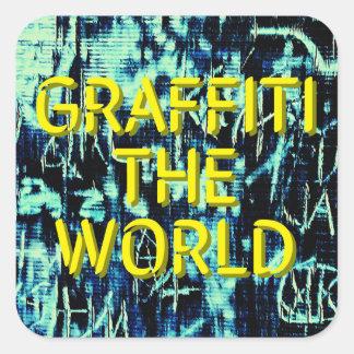 Graffiti the World... Square Sticker