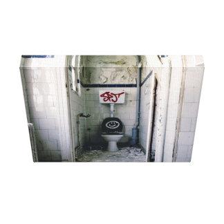 Graffiti Themed, Graffiti Spraypainted On A Toilet Canvas Prints