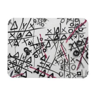 Graffiti Tic Tac Toe Rectangular Magnets