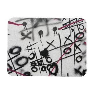 Graffiti Tic Tac Toe Magnet