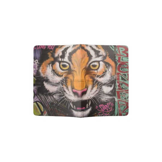 Graffiti tiger passport holder