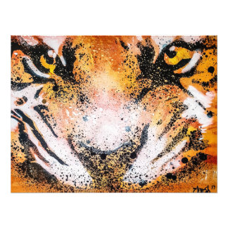 Graffiti Tiger Photo Print
