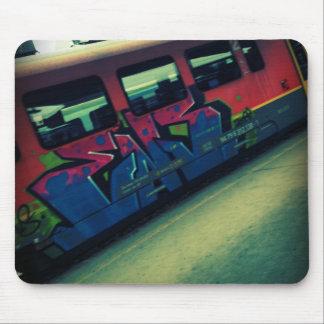 Graffiti train mouse mat