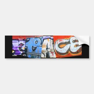 Graffiti Trains Peace Bumper Sticker