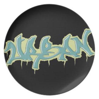GRAFFITI urban plate