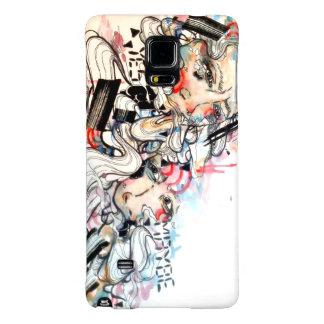 graffiti urban pop surreal watercolor portrait galaxy note 4 case