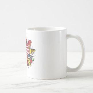 Graffiti USA flag pop art Basic White Mug