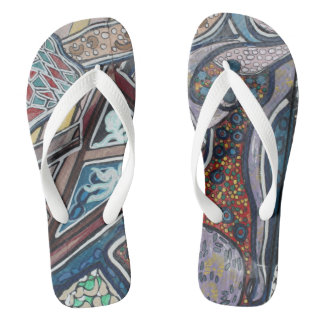 Graffiti wall art 2 flip flops
