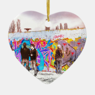 Graffiti Wall Project Ceramic Heart Decoration
