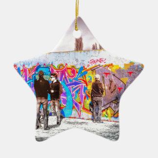 Graffiti Wall Project Ceramic Star Decoration