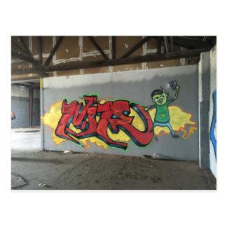 Graffiti Wildstyle Postcard