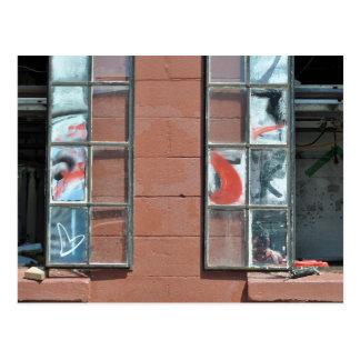 Graffiti Window Panes Postcard