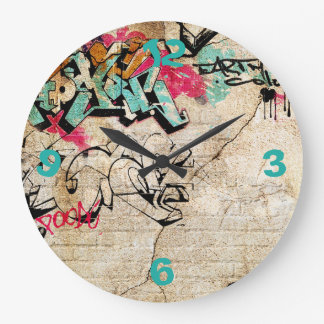 Graffiti with Numbers Wall Clock
