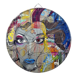 Graffiti Woman Dartboard