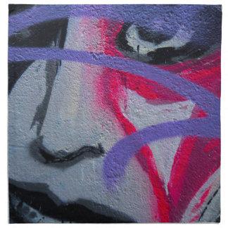 Graffiti woman napkin