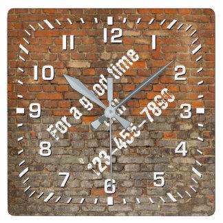 Graffiti Worn Bricks Personalize Wall Clocks