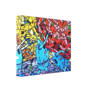 Graffiti Wrapped Canvas Canvas Print