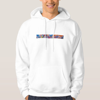 Graffiti writer with mask colour hoodie