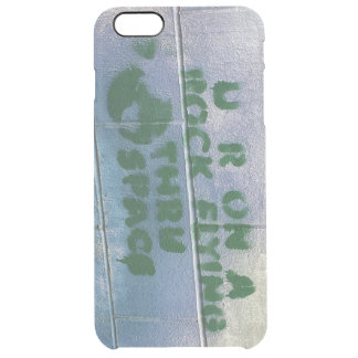 Graffiti | You are on a rock flying through space Clear iPhone 6 Plus Case