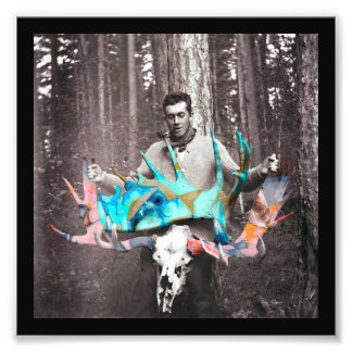 Graffitied Antlers Collectible Photo Card